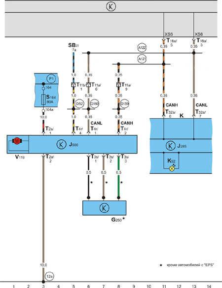Схема электрооборудования поло